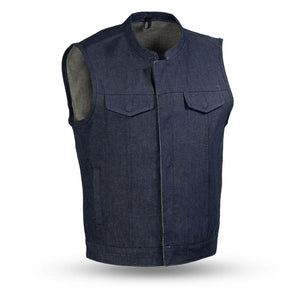 Kershaw Denim Motorcycle Vest - Blue