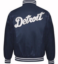 Exclusive: Authentic Starter Detroit Tigers MLB satin  jacket - Navy/White
