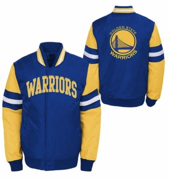 Officially licensed Kids NBA Golden State Warriors nylon jacket