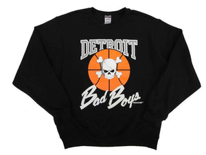 Officially Licensed Detroit Bad Boys Crewneck Sweatshirt - Black