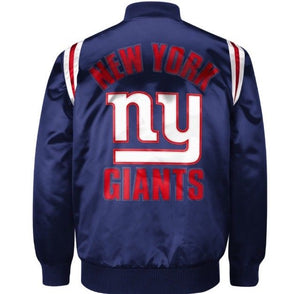 Exclusive: Authentic New York Giants Starter NFL satin  jacket - Blue