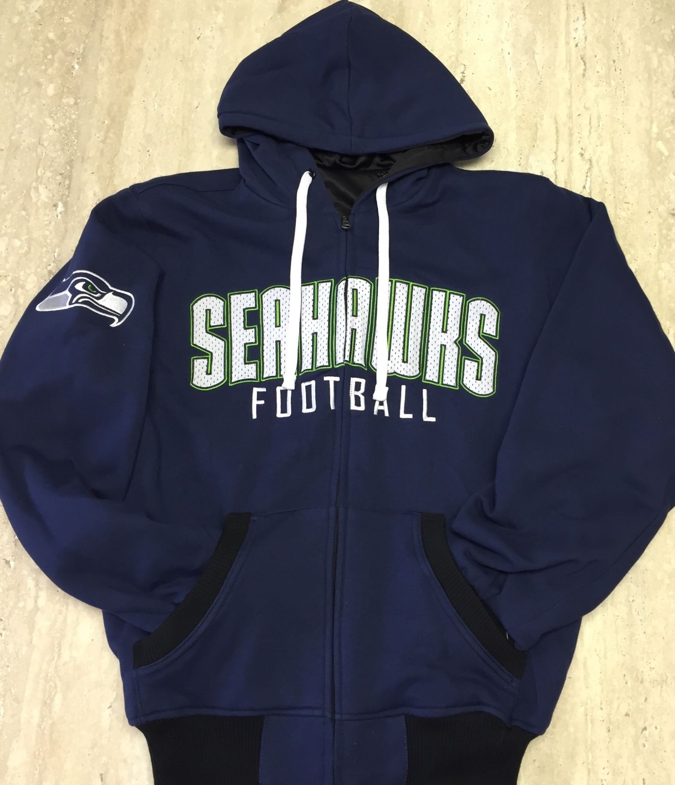 online store b31a2 05a21 Men's Seattle Seahawks Official NFL Reversible Hoodie