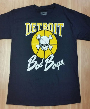 Officially Licensed Detroit Bad Boys T-Shirt - Navy Blue and Maize