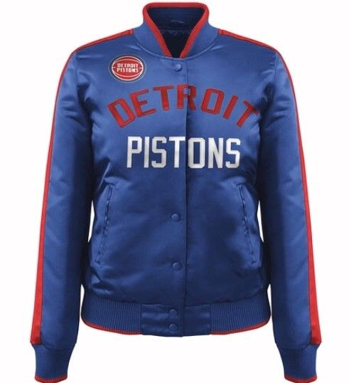 Exclusive: Ladies Detroit Pistons ShowTime NBA satin jacket - Blue