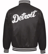 Exclusive: Authentic Starter Detroit Tigers MLB satin  jacket - Black/White