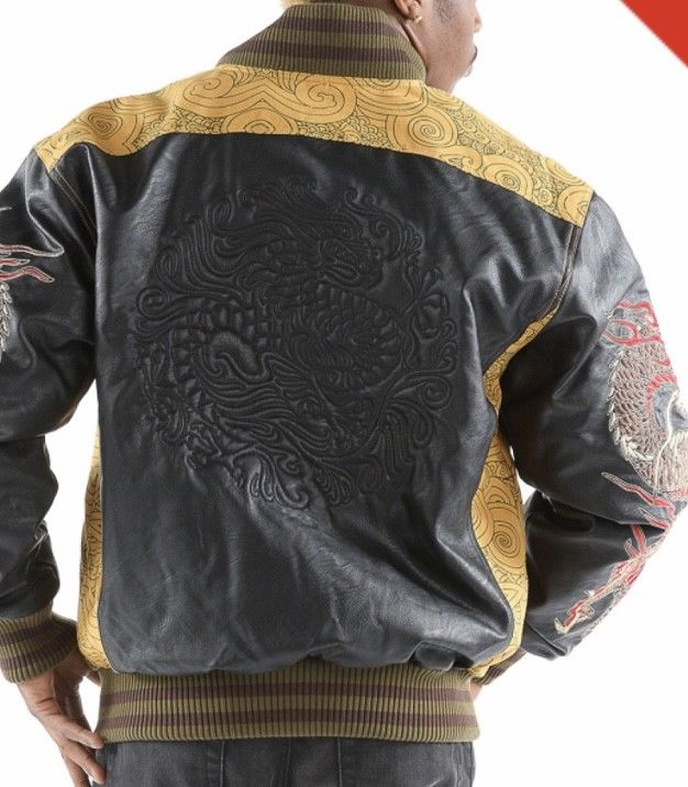 Mens Pelle Pelle Dragon Heart Jacket -- Wheat