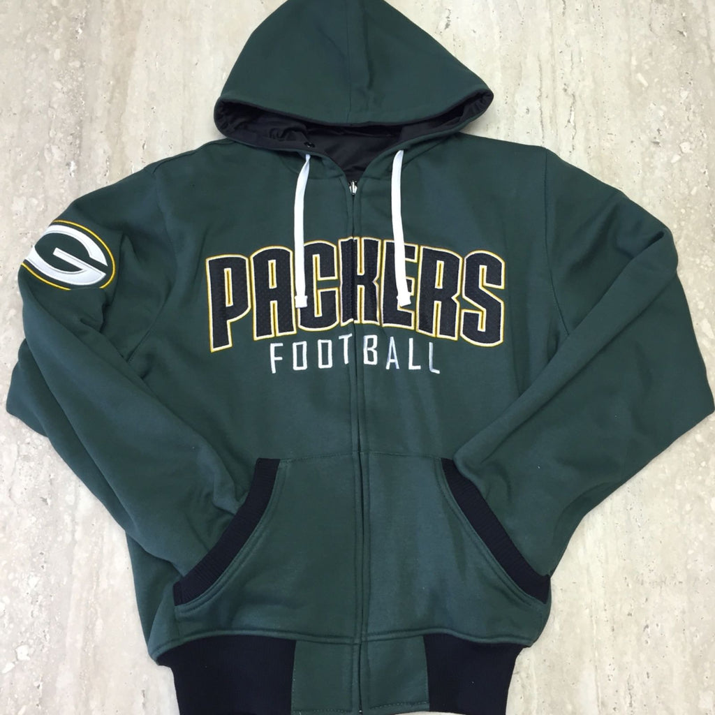 Men's Green Bay Packers Official NFL Reversible Hoodie