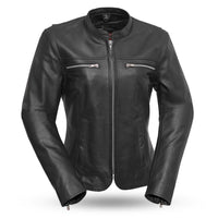 Roxy - Light weight cafe style leather jacket
