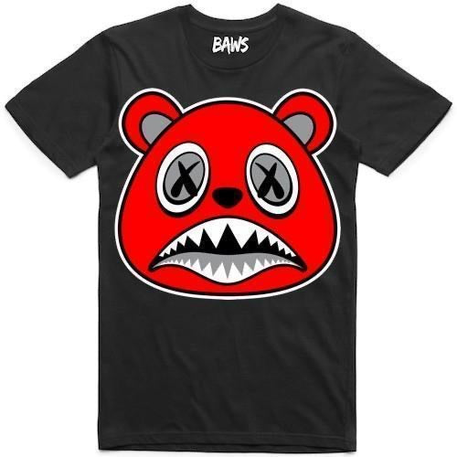 Angry Baws Bear Black T-Shirt