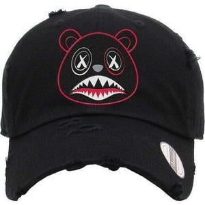 Baws Bear Black on Black Dad Hat