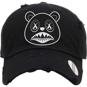 Baws Bear Black and White Dad Hat