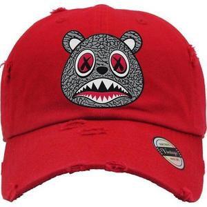 Baws Bear Red and Grey Dad Hat