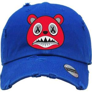 Baws Bear Royal Blue and Red Dad Red Hat