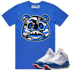 Baws Camouflage Royal Blue T-Shirt