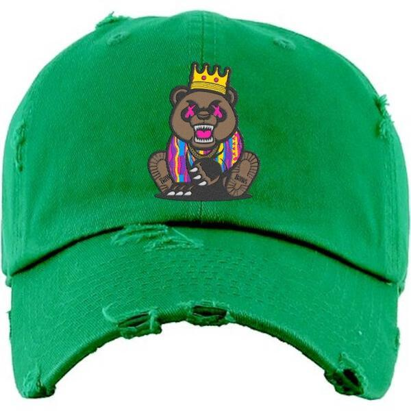 Baws King Crown Green Dad Cap
