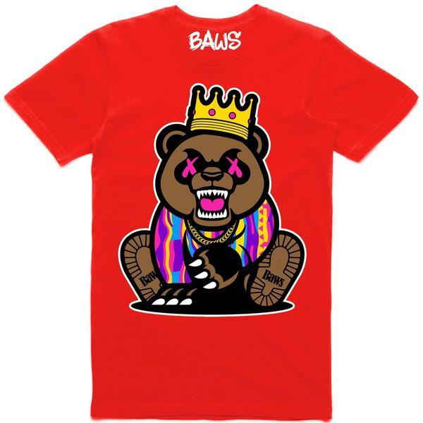 Baws King Crown Red T-Shirt