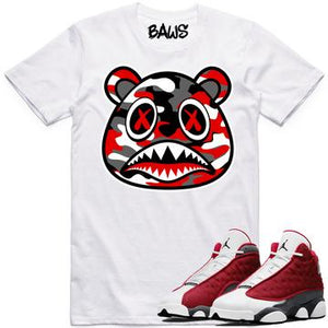 Baws Red Camouflage White T-Shirt