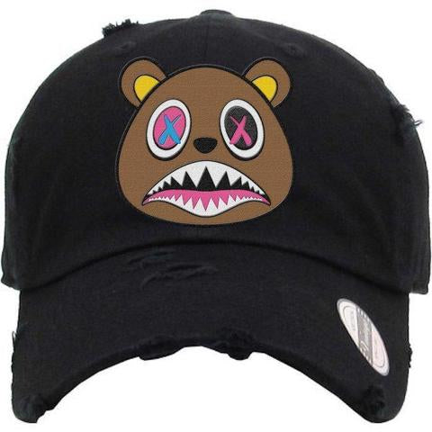 Crazy Baws Bear Black and Brown Dad Hat