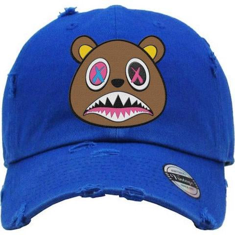 Crazy Baws Bear Royal Blue and Brown Dad Hat