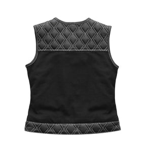 Striker – Women's Club Style Leather/Canvas Vest (Limited Edition)