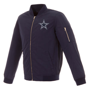 Dallas Cowboys Nylon Bomber Jacket – Navy