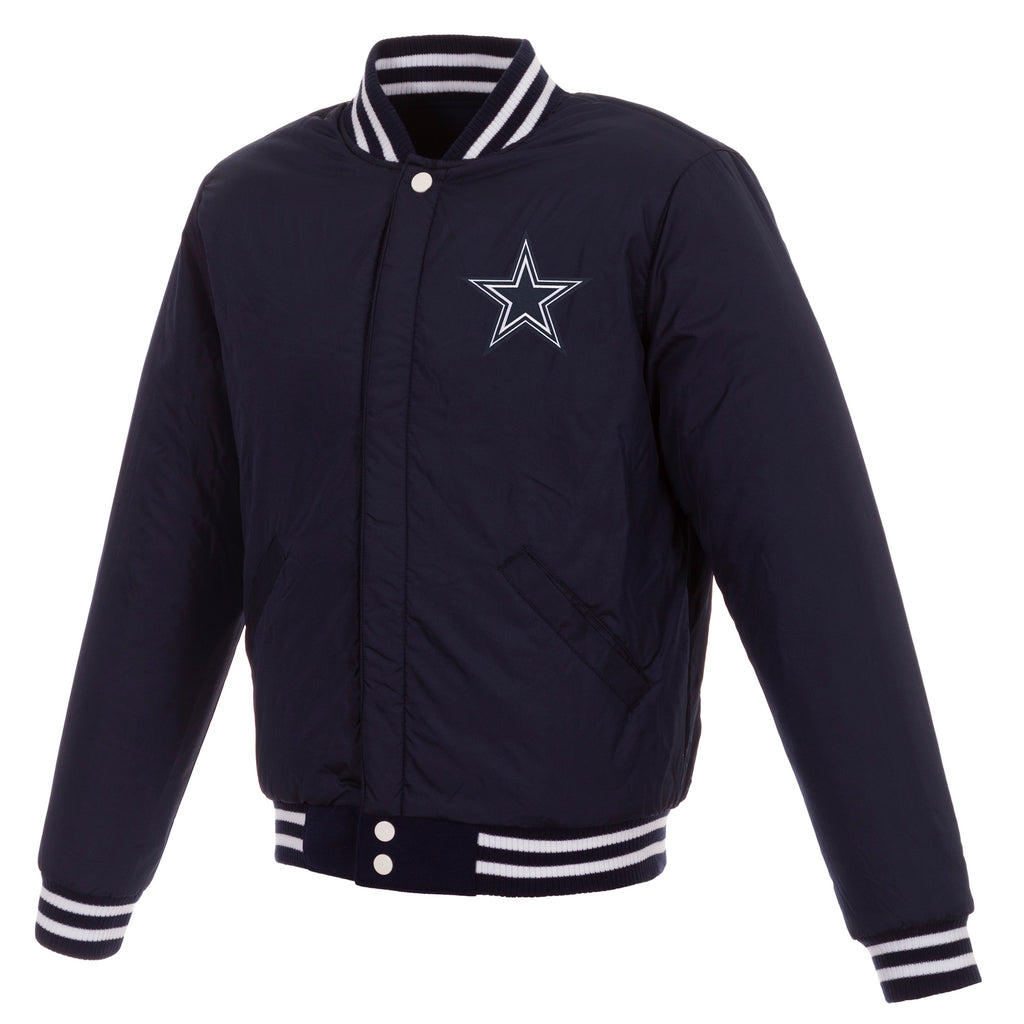 Dallas Cowboys Reversible Fleece Jacket – Navy and White