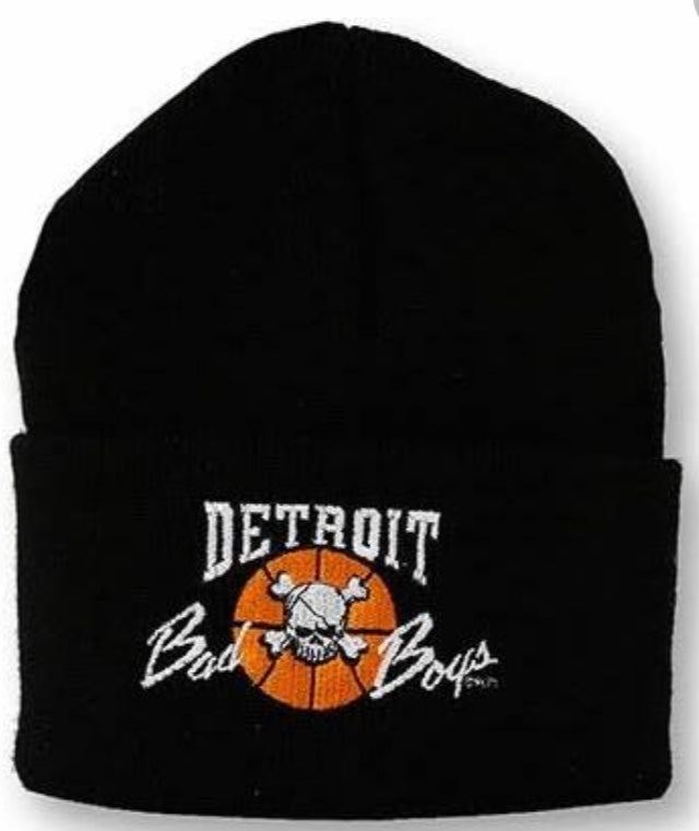 Detroit Bad Boys Cuffed Knit Beanie - Black