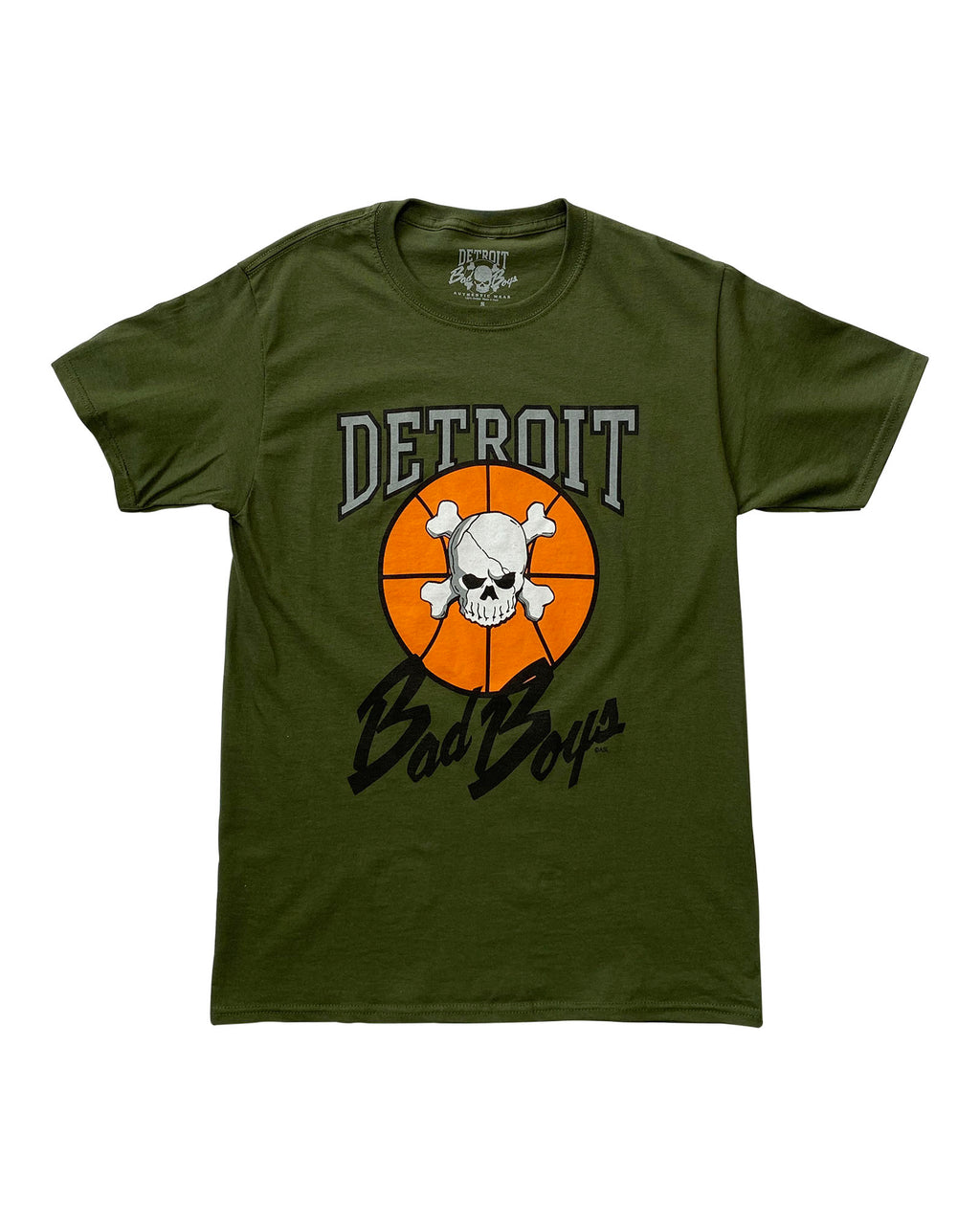 Authentic Detroit Bad Boys Military Green T-Shirt