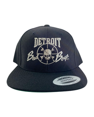 Authentic Detroit Bad Boys Black Snapback Hat with Metallic Embrodiery
