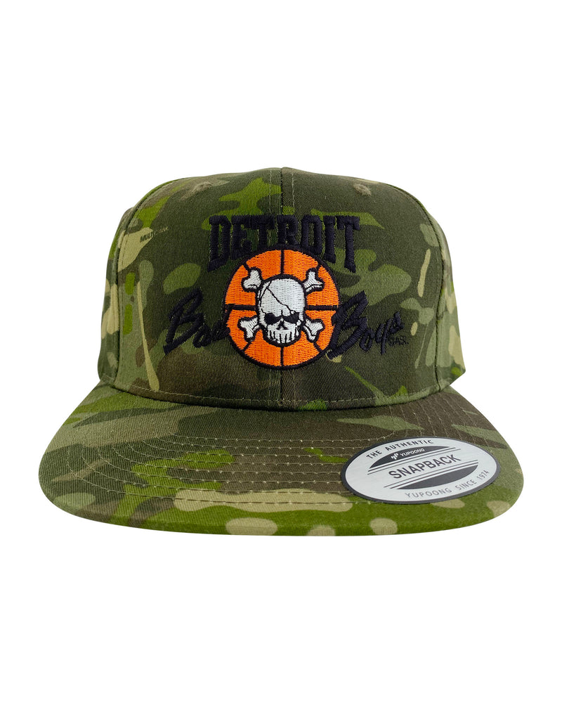 Authentic Detroit Bad Boys Army Green Camouflage Snapback Hat
