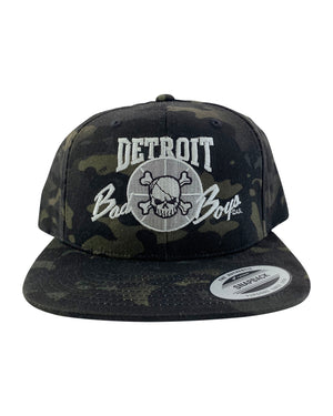 Authentic Detroit Bad Boys Black Camouflage Snapback Hat
