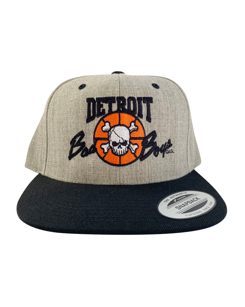 Authentic Detroit Bad Boys Grey Snapback Hat