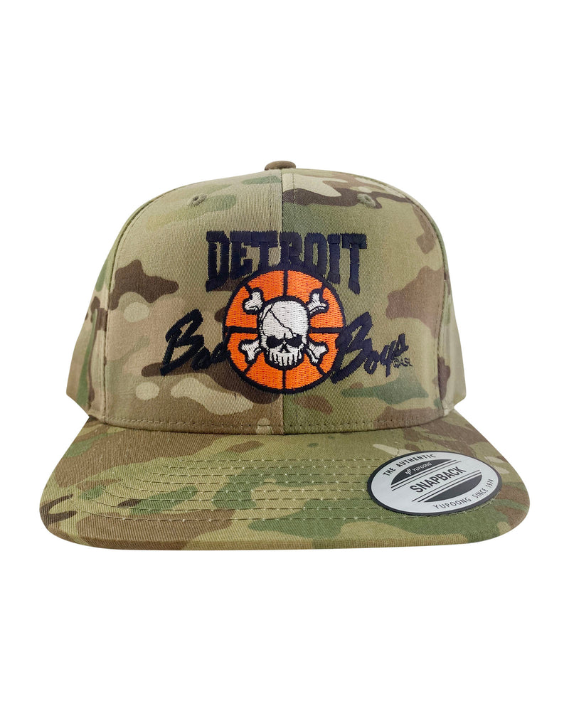Authentic Detroit Bad Boys Multi Green Camouflage Snapback Hat