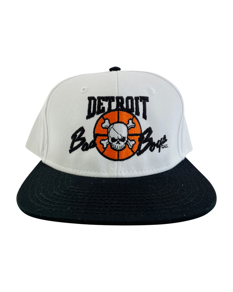 Authentic Detroit Bad Boys White Snapback Hat