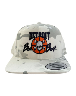 Authentic Detroit Bad Boys White Multi Camouflage Snapback Hat