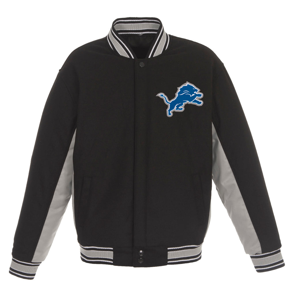 Detroit Lions Wool Jacket – Black and Grey