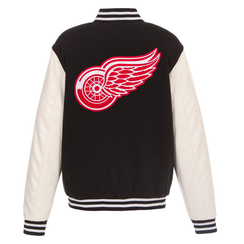 Detroit Red Wings Reversible Fleece Jacket – Black and White