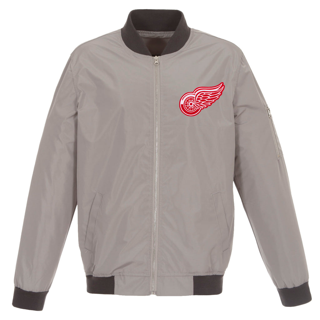 Detroit Red Wings Nylon Bomber Jacket – Charcoal Grey