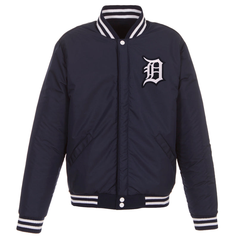 Detroit Tigers Reversible Fleece Jacket – Navy and White