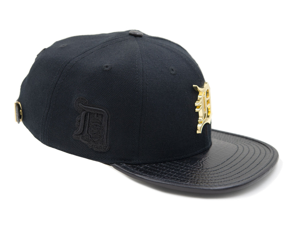 Detroit Tigers Pro Standard Strap Back Cap - Black with Gold