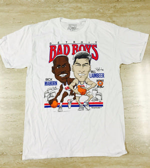 Authentic Detroit Bad Boys Vinnie Johnson Character T-shirt