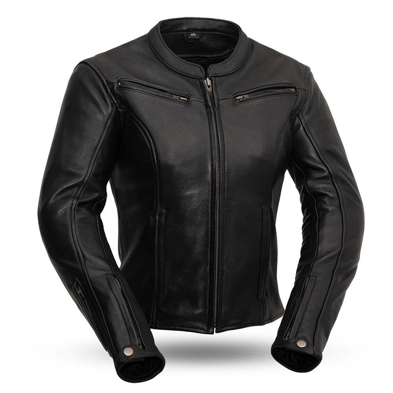 Speed Queen - Women's Leather Motorcycle Jacket