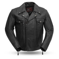 Mastermind - Men's Leather Motorcycle Jacket