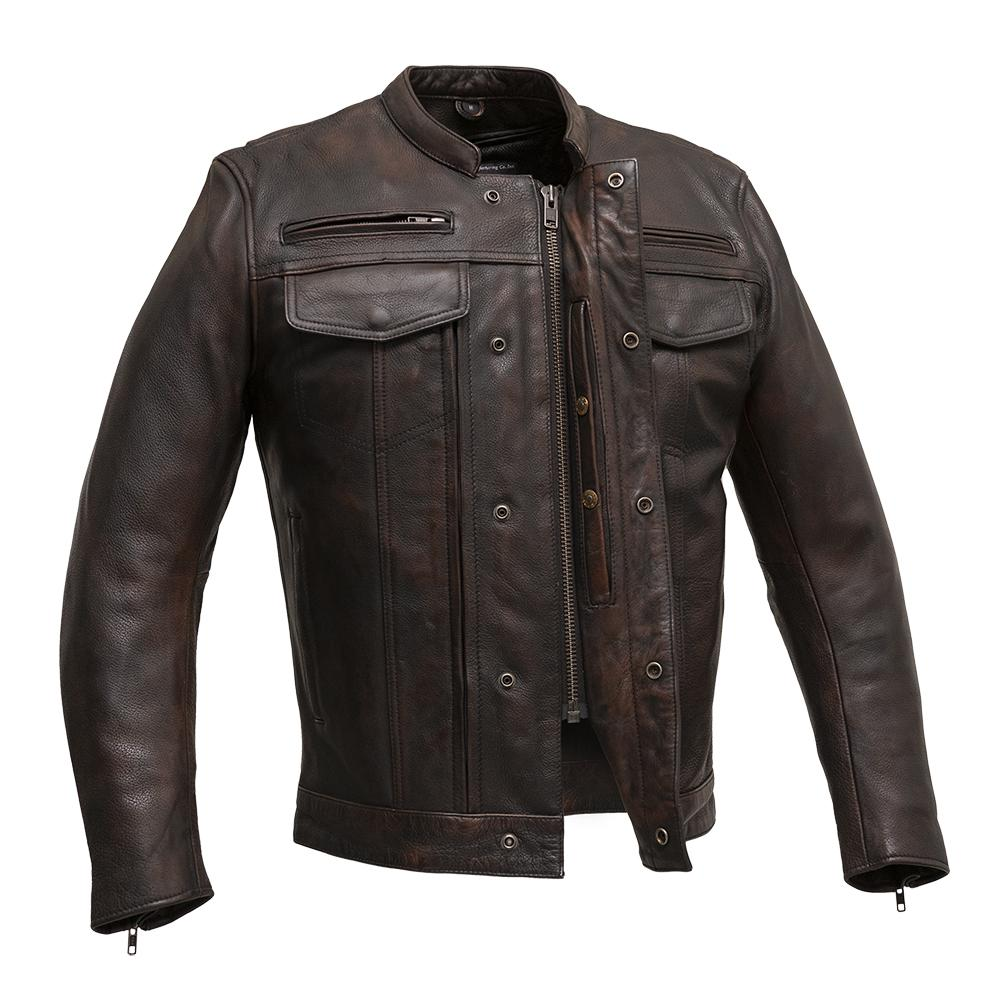 The Raider - Men's Motorcycle Leather Jacket (Copper)