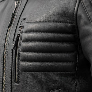 Defender - Men's Leather Motorcycle Jacket