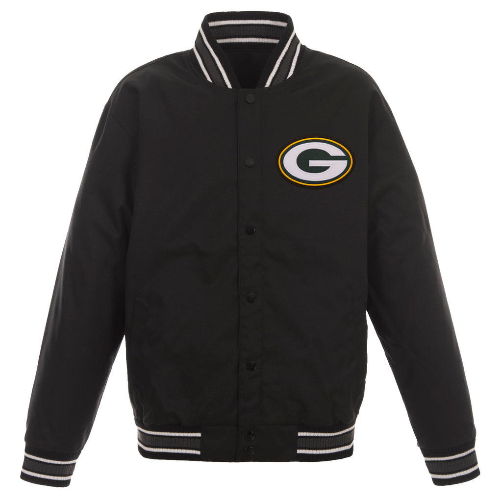 Green Bay Packers Poly-Twill Jacket – Black
