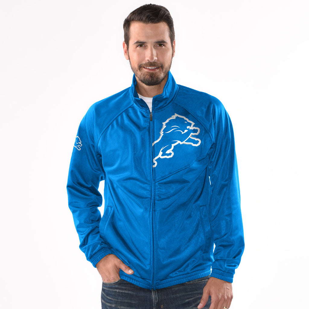 Carl Banks Official Detroit Lions Honolulu Blue Track Jacket