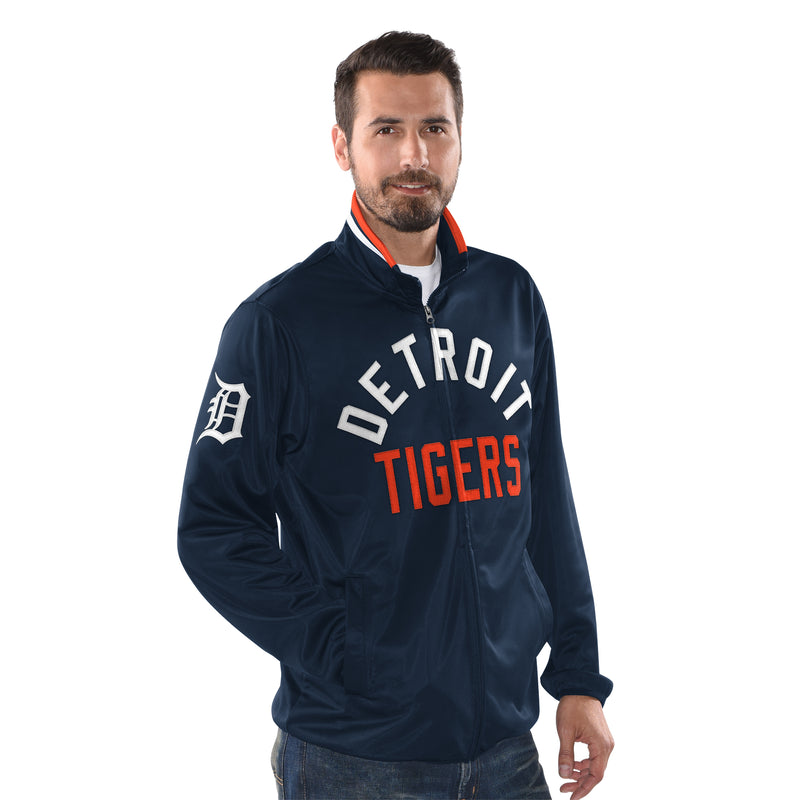 Navy Blue Official Detroit Tigers Zip Front Track Jacket by Carl Banks