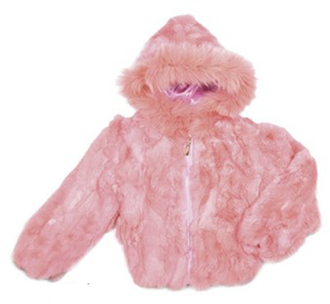Kids Rabbit Hooded Bomber Jacket - Pink