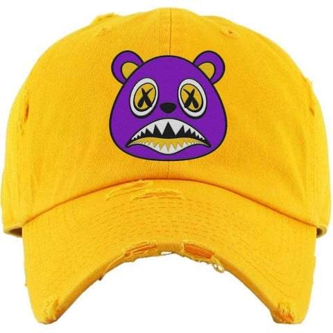 Los Angeles Baws Yellow and Purple Dad Hat